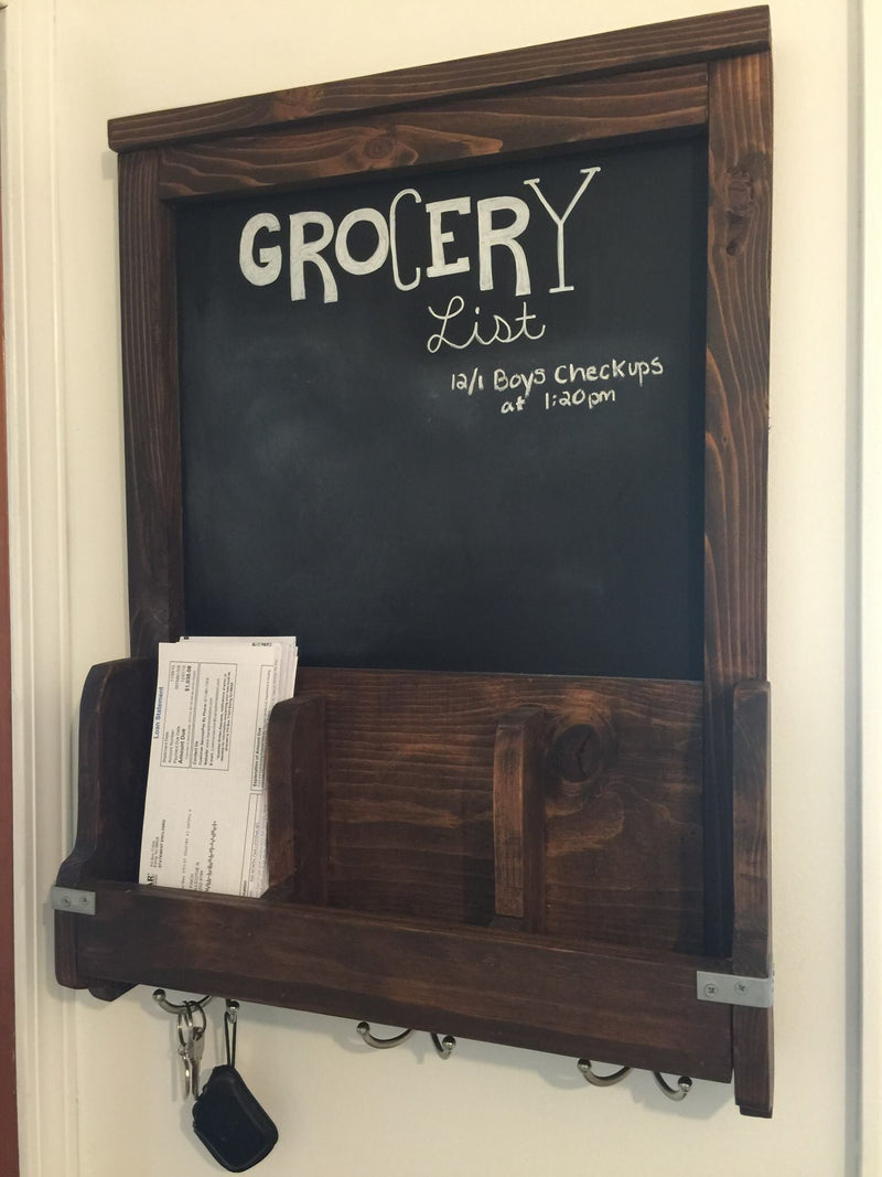 Chalkboard Mail Station