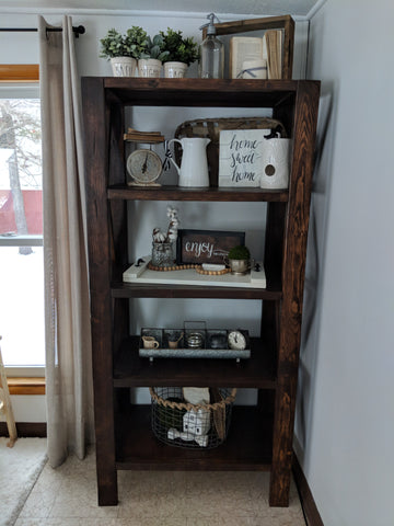 Farmhouse Tall Bookshelf