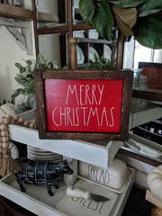 Reversible Holiday Framed Signs