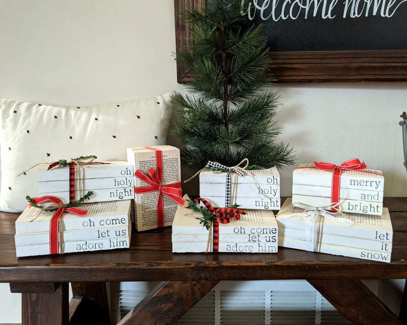 Farmhouse Christmas Stamped Books