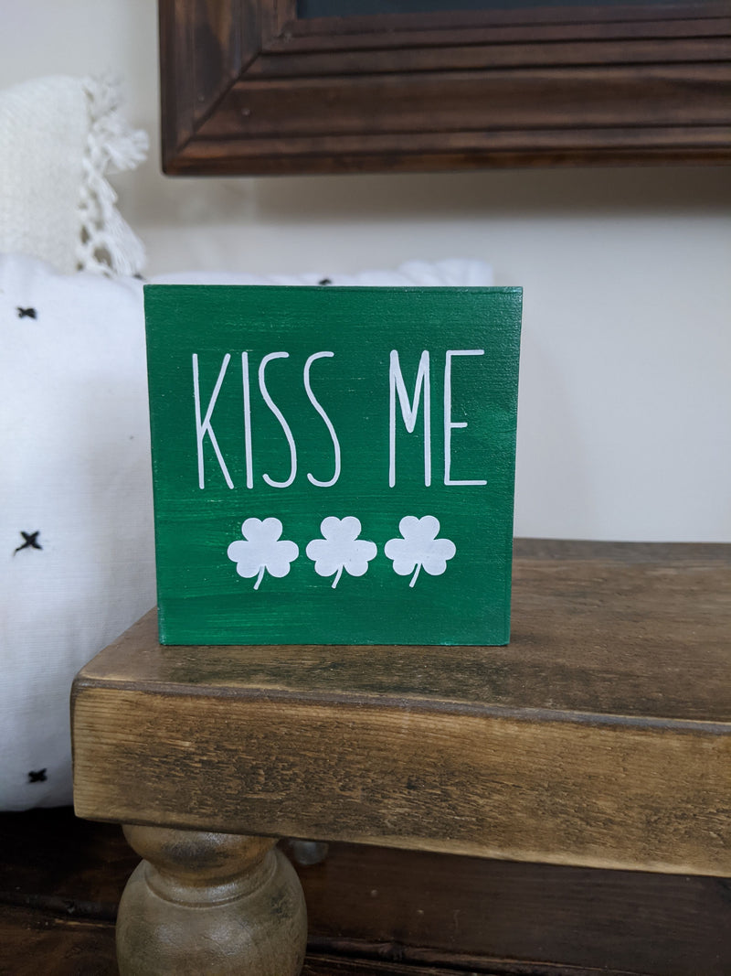 St. Patrick's Day Mini Wood Signs and Books
