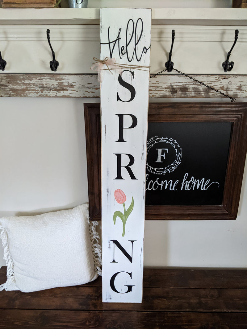 Hello Spring Porch Sign