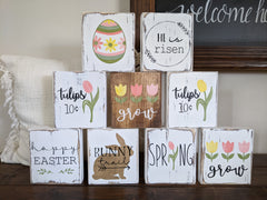 Spring and Easter Standing Wood Blocks
