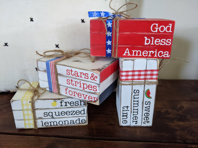 Summer Mini Wood Books