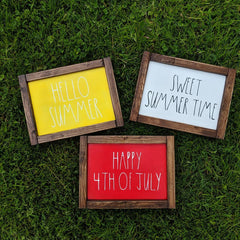 Reversible Summer Sign