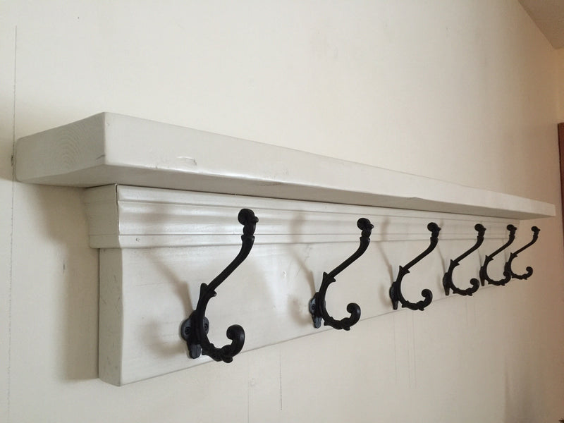 Wall Mounted Coat Rack & Decor Shelf
