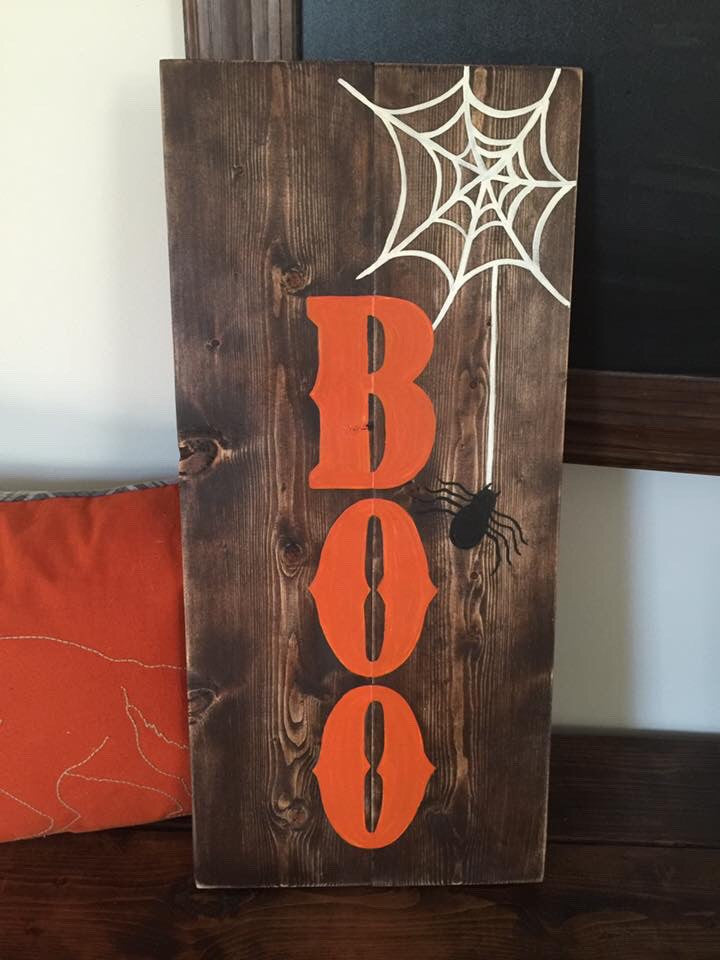 "Halloween ""Boo"" Hand Painted Signs"