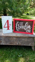 Patriotic Wood Signs