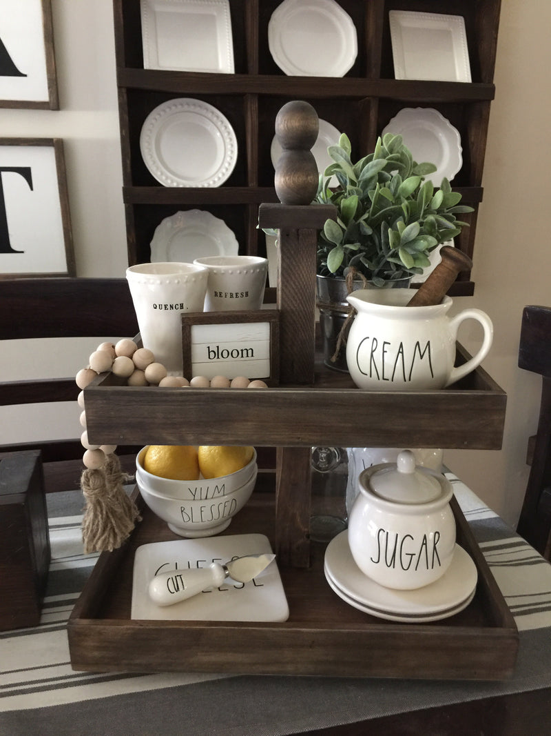 Tiered Tray, Farmhouse Dessert Tray