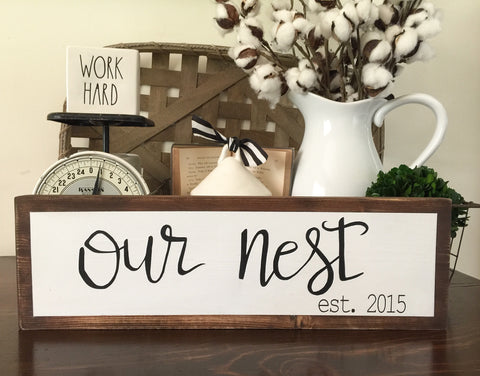 """Our Nest"" Customizable Sign"