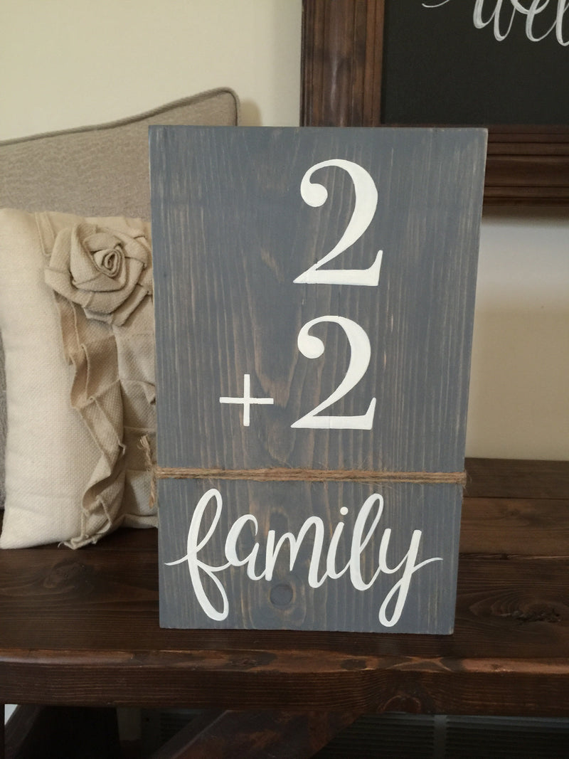 Family Flash Card Wood Sign