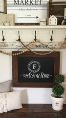 Hanging Chalkboard with custom writing