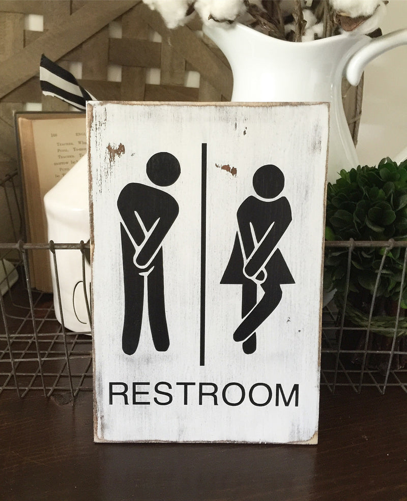 Funny Restroom Small Sign