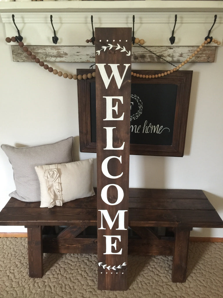 Welcome Outdoor Porch Wood Sign