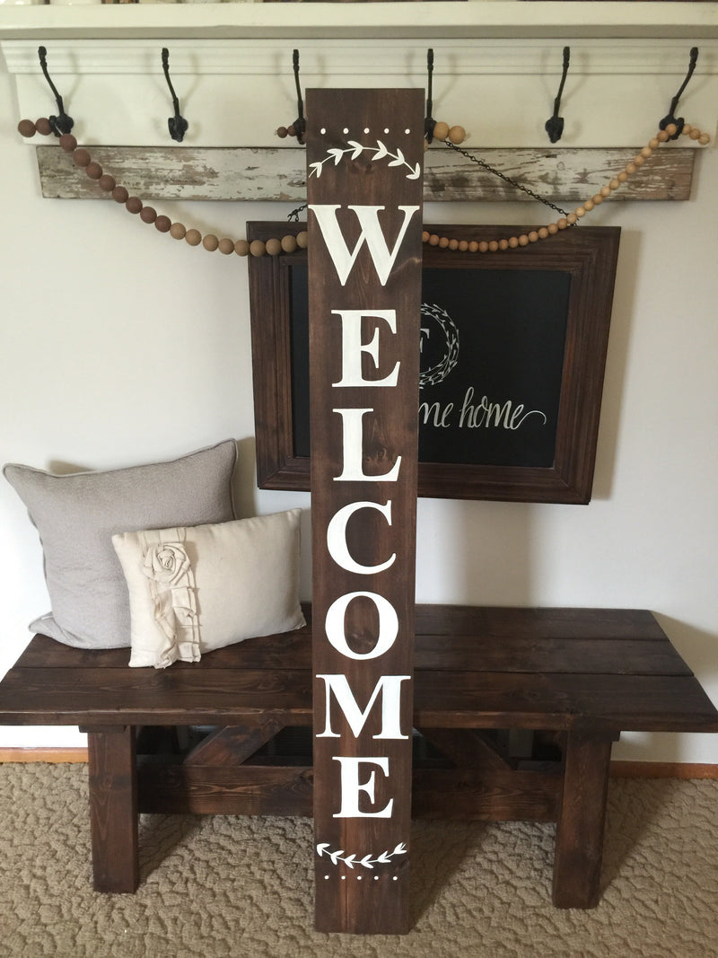 Welcome Outdoor Porch Wood Sign Alex In Aurora