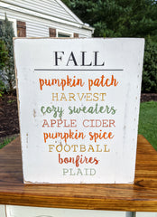 Fall Plaque Signs