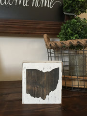 Small Ohio Blocks in White Distressed