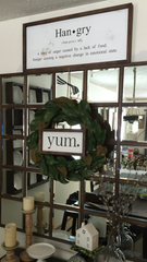 YUM Framed Wood Sign