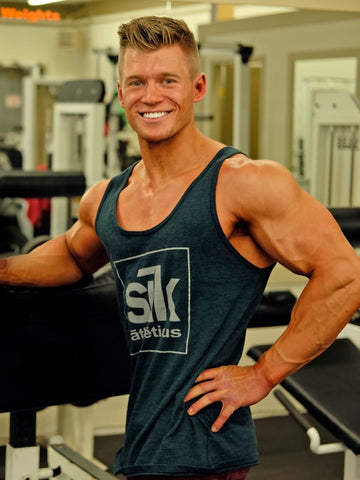 Dyllan Hubscher personal fitness trainer friendly in a gym