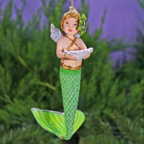 Mer Baby Ornament by Patience Brewster