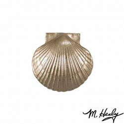 Brass Scallop Shell Door Knocker, Unique Nautical Home Decor