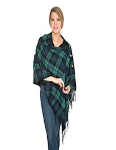 Navy and Green 3 in 1 Monogrammed Poncho