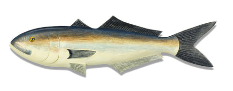 Hand Carved Wooden Bluefish