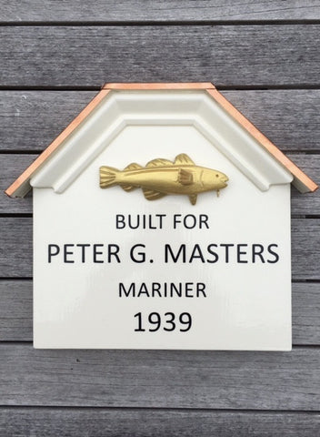 Golden Cod Historic House Sign, Plaque, Home and Garden
