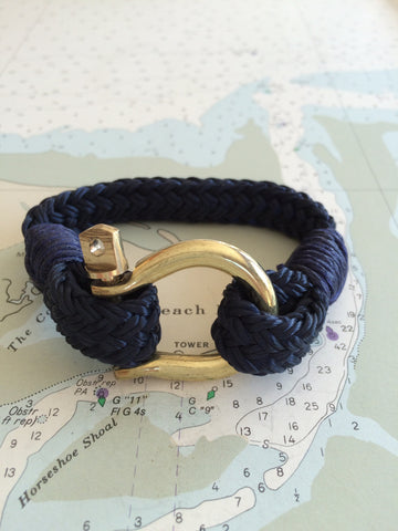 Marblehead.Works Rigger Bracelet Navy and Brass