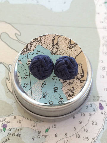 Marblehead.Works Nautical Monkey Fist Earrings by Patsy Kane