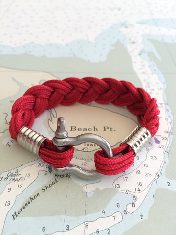 Summer Nautical Rope Bracelet by Patsy Kane