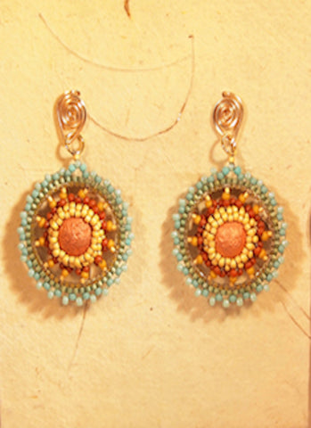 Earrings, beaded, Fine Art Jewelry, artisan