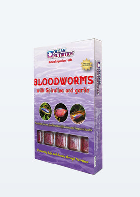Ocean Nutrition Bloodworms with Spriluna and Garlic food from Ocean Nutrition products online in Dubai and Abu Dhabi UAE