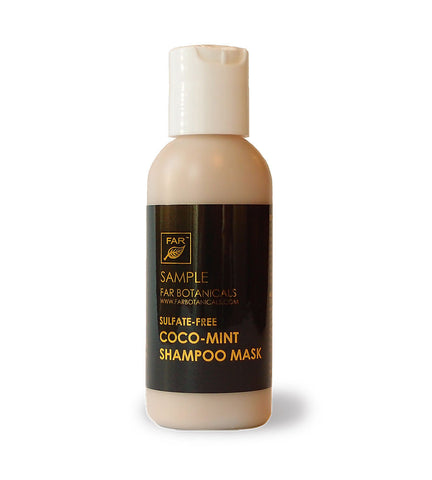 SAMPLE: Sulfate-Free Coco-Mint Shampoo Mask for Hair - FAR Botanicals