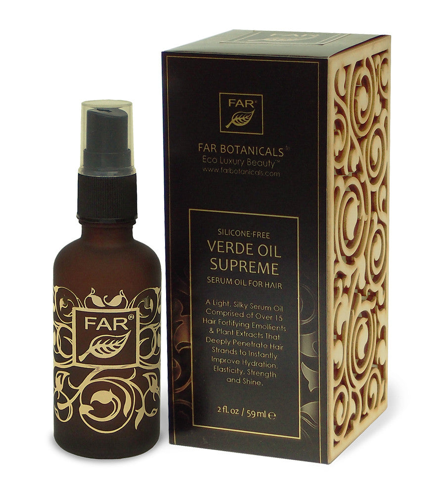Verde Oil Supreme Silicone-Free Moisturizing Serum Oil for Hair (Low Scent) - FAR Botanicals