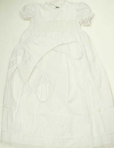 Beautiful White Baby Gown 3pc