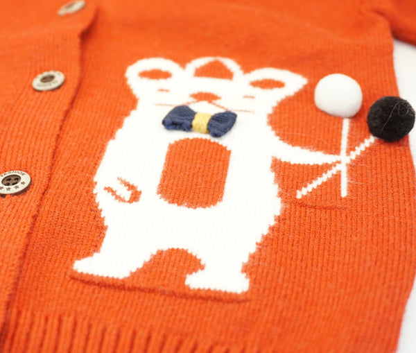 Beary Balloon Cardigan