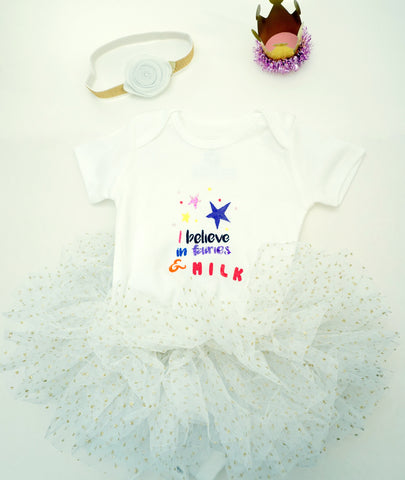 Believe in Fairies and Milk Onesie Tutu