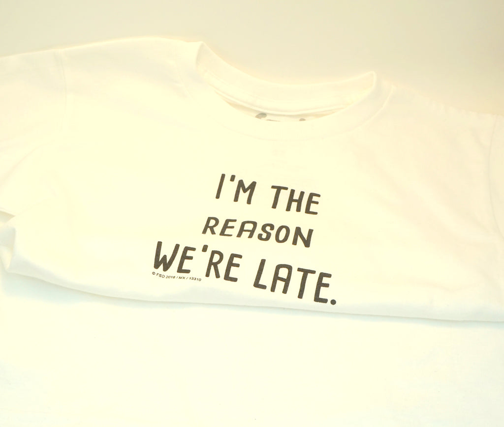 I'm The Reason We're Late Onesie (Baby)