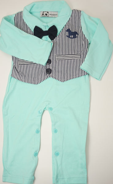 Preppy Butterfly Tie Jumpsuit