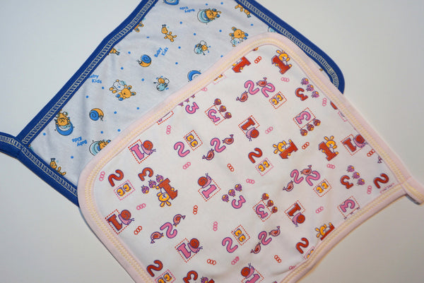 Absorbing Baby Bib with Wipe Cloth