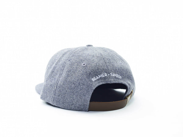 Beamer Gray Wool Blend Hat (Adult)