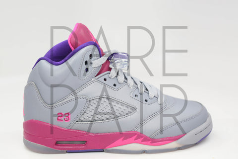 "Girls Air Jordan 5 Retro (GS) ""Raspberry"" - Rare Pair"