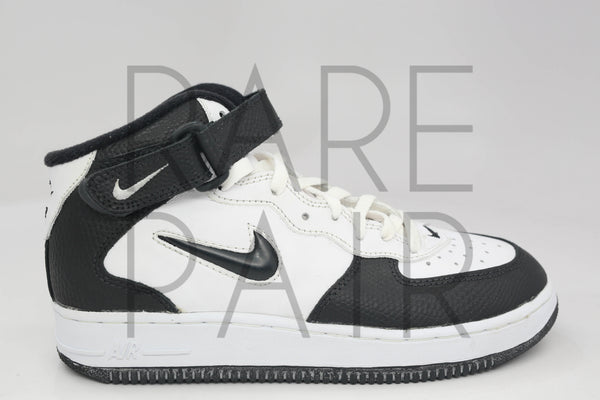 "Air Force 1 Mid SC (BG) ""White/Black (Lizz)"" - Rare Pair"