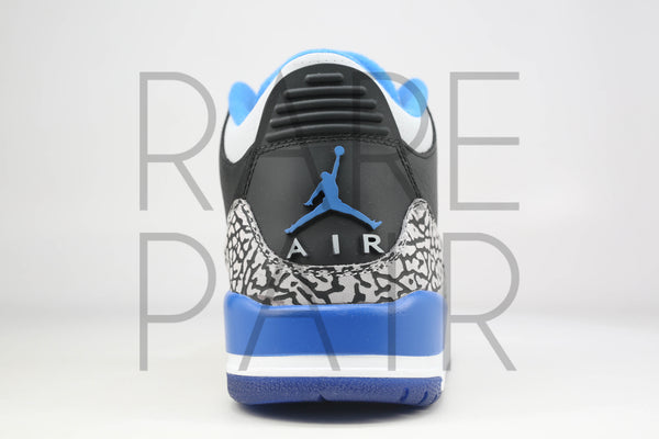 "Air Jordan 3 Retro ""Sport Blue"" - Rare Pair"