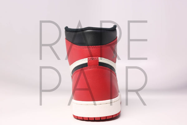 "Air 1 Retro High OG ""Bred Toe"" - Rare Pair"