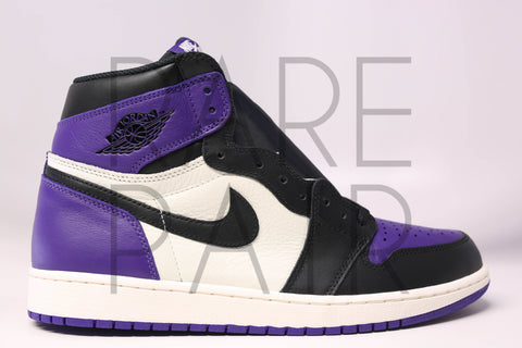 "Air Jordan 1 Retro High OG ""Court Purple"" - Rare Pair"