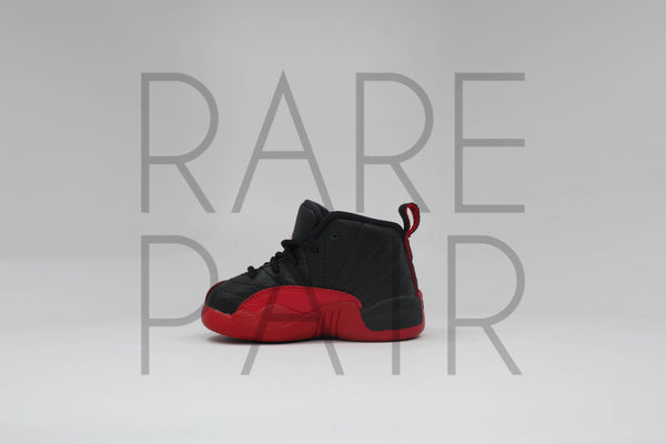 "Jordan 12 Retro BT ""2016 Flu Game/Bred"" - Rare Pair"