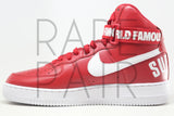 "Air Force 1 High Supreme SP ""Supreme: Varsity Red"" - Rare Pair"