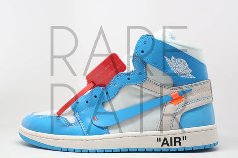 "Air Jordan 1 x Off-White NRG ""Off-White : UNC"" - Rare Pair"